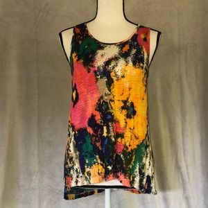 size S multi/ water colored Cable & Gauge tank top